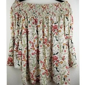 Max Studio M off the shoulder flower top